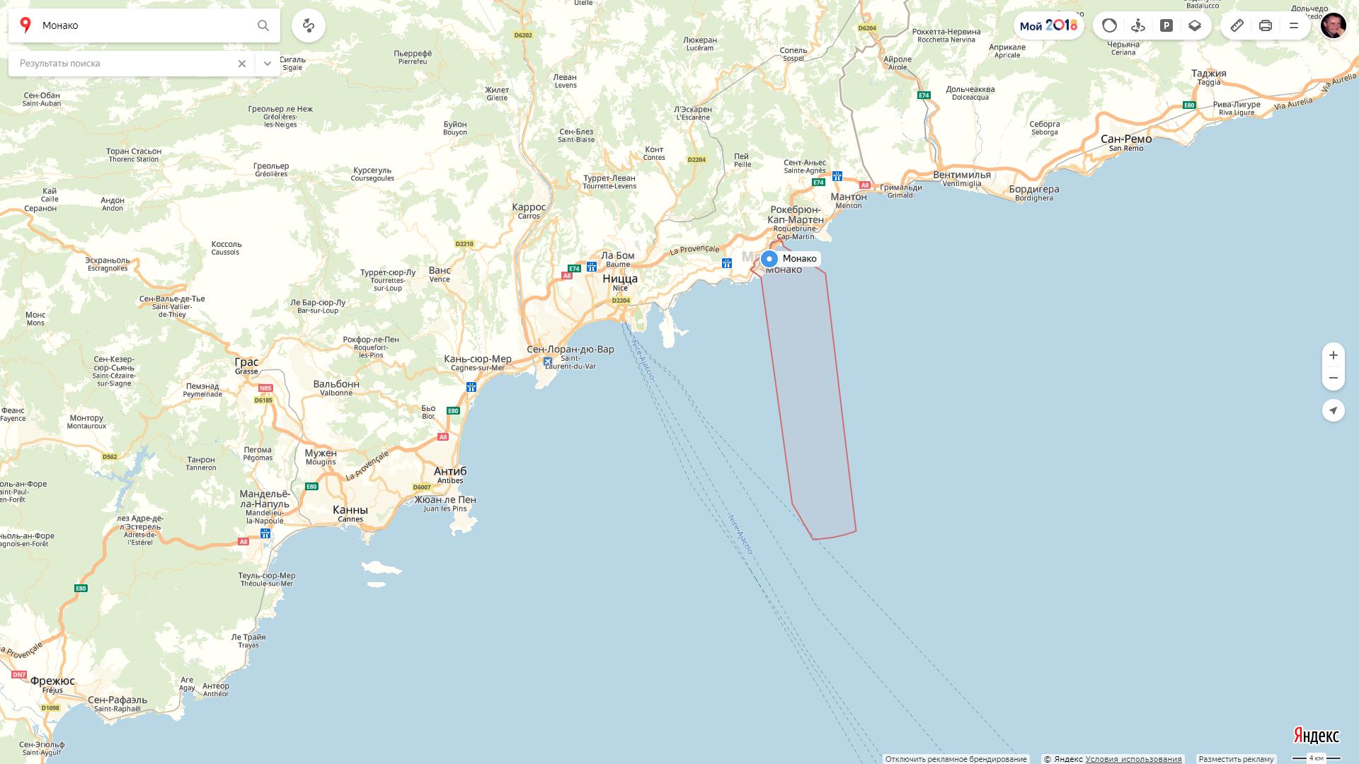 2.Место среди самых маленьких государств Монако