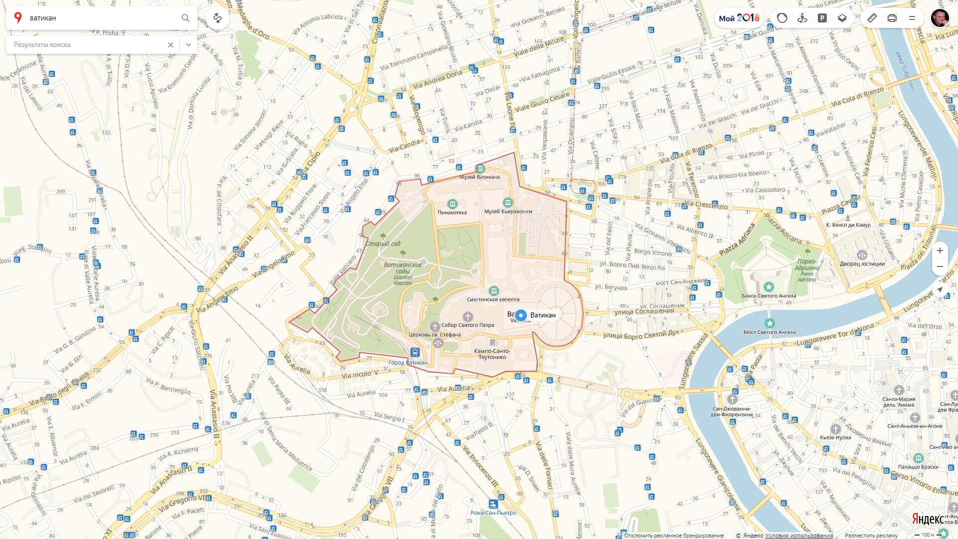 1.Место - Ватикан: самое меленькое государство