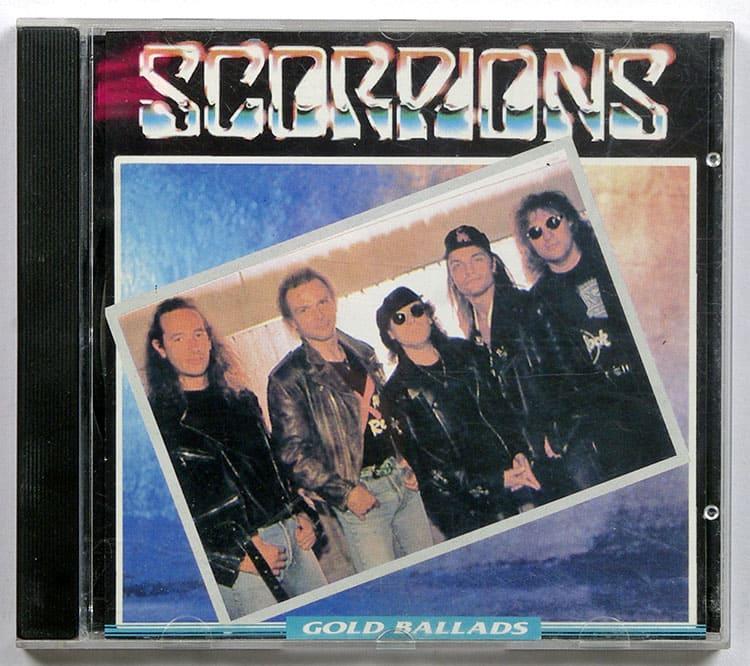 Оригинальная обложка Scorpions  Gold Ballads cd.