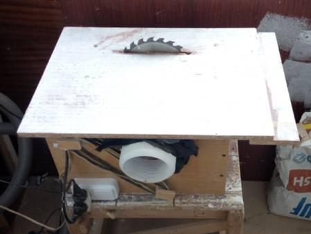 Фотография самодельной циркуляки из ручной дисковой пилы.