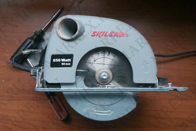 Как заменить диск на циркулярке Skil