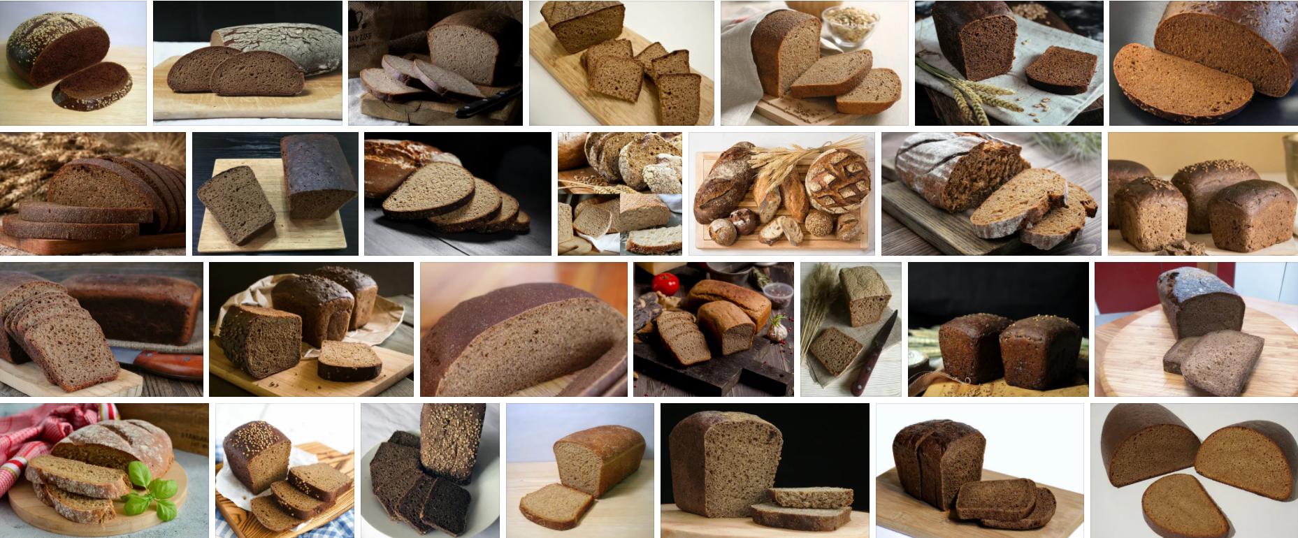 Черный хлеб  для бутерброда с сыром и маслом.