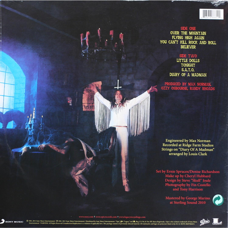 Обратная сторона Ozzy Osbourne - Diary Of A Madman.
