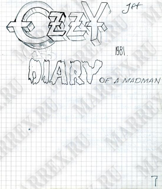 Ещё о Ozzy Osbourne - Diary Of A Madman из тетради