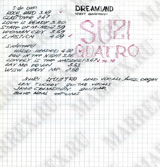 Запись на странице №16 Suzi Quatro.
